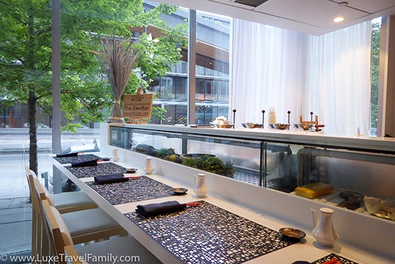 Lobby Lounge + Raw Bar at Fairmont Pacific Rim