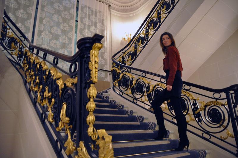 The Peninsula Paris staircase