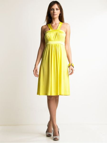 Banana republic yellow dress