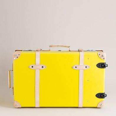 Jcrew yellow suitcase