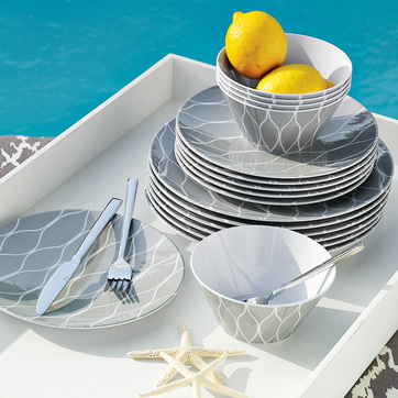 Westelm dinnerware with lemon