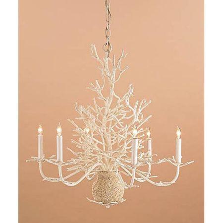 Currey coral chandelier