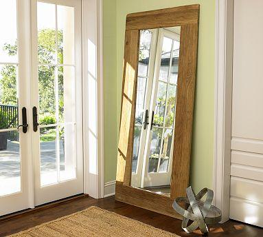 Rustic elm floor mirror pb 599