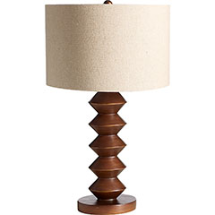 Pier 1 saw table lamp