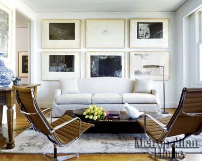 Living room_art wall_Metropolitan Home via Point Click Home