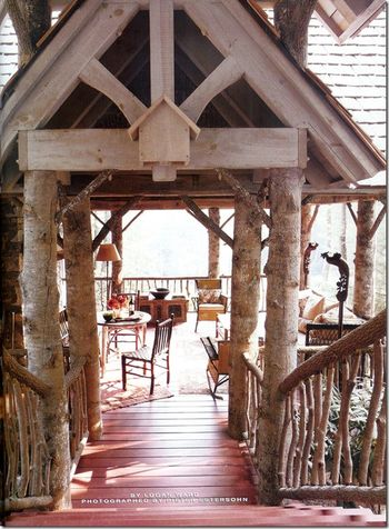 Southern accents mountain porch