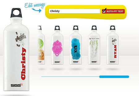 Customized sigg bottles