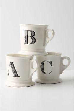 Letter mugs