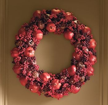 RH pomegranate wreath