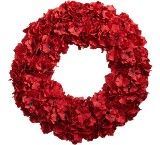 Crimson blossom wreath