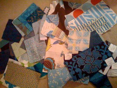 Turquoise fabrics