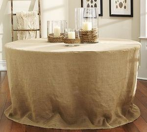 PB burlap table overlay
