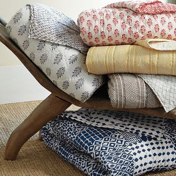 West Elm Has A Great Looking Block Print Bedding Collection