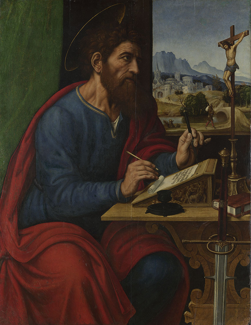 Pier Francesco Sacchi, Saint Paul Writing, 1520s © The National Gallery, London. Mond Bequest, 1924