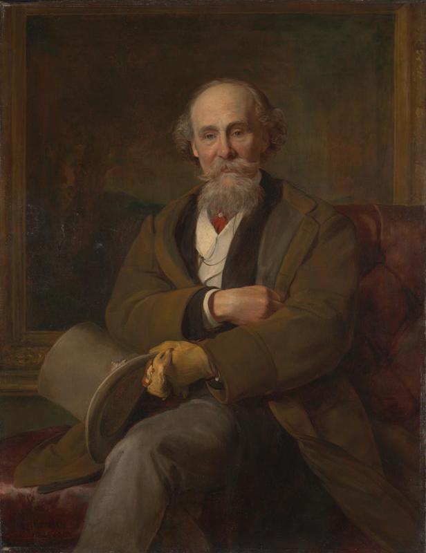 John Callcott Horsley, 'Portrait of Martin Colnaghi', 1889 © The National Gallery