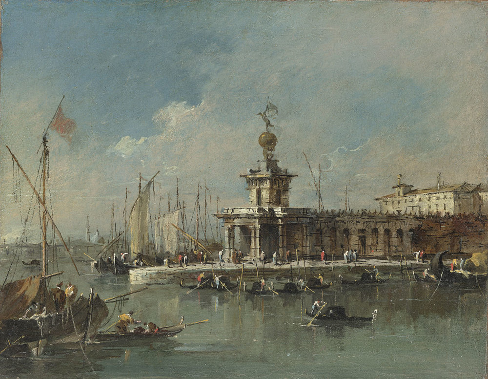 Francesco Guardi, Venice: The Punta della Dogana, 1780s. © The National Gallery, London. Bequeathed by Mrs Elizabeth Carstairs, 1952.