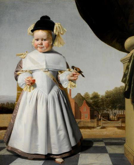 Caesar van everdingen,  child holding an apple , 1664  © Cannon hall museum, park and gardens