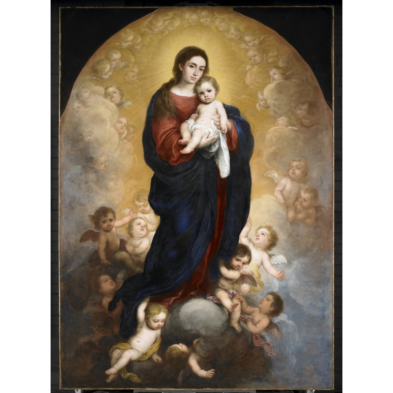 Murillo,  Virgin and Child in Glory , about 1673. Presented to the Walker Art Gallery by the Art Fund in 1953 © National Museums Liverpool