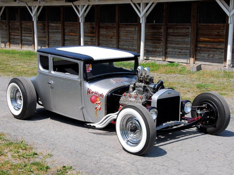1927 ford coupe gas axe garage