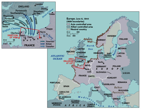 Strategic Map of Europe on D-Day — Strategic Thinking