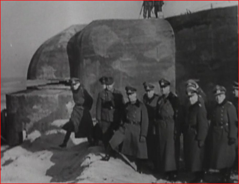 Rommel and staff inspecting defenses on preparation for the inevitable D-Day invasion.