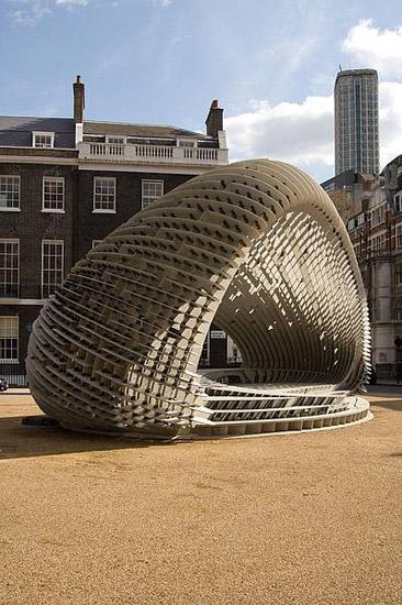 fibre-c SPACE Pavilion London - Ruhnau Clarke Architects