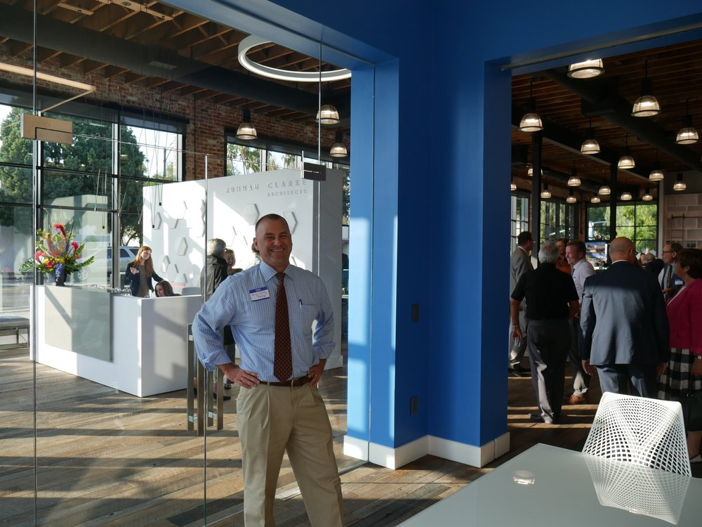 Mayor Rusty Bailey attends the Ruhnau Clarke Architects Open House