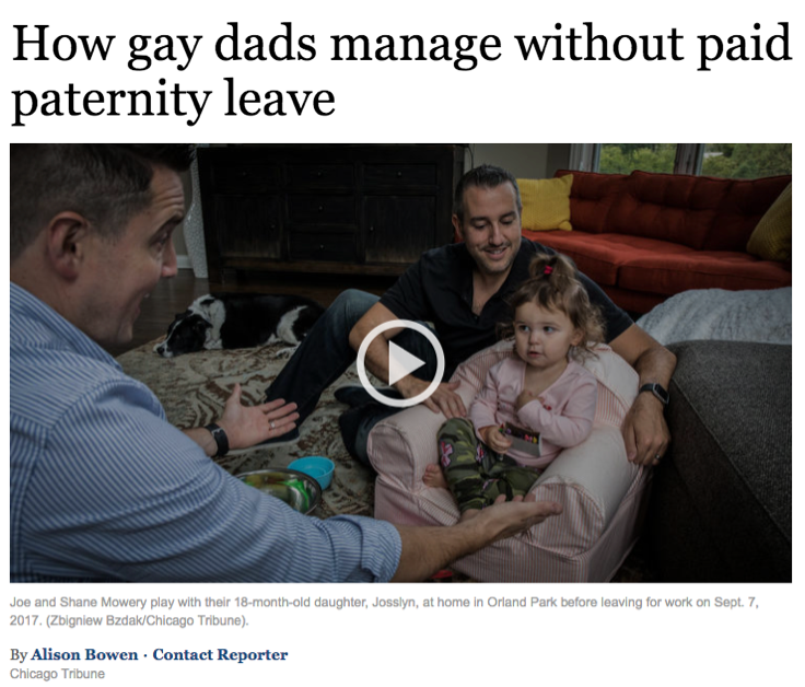 How gay dads manage without paid paternity leave (Chicago Tribune)