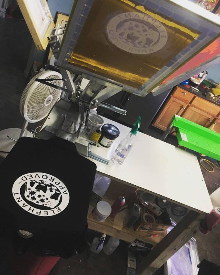 Tshirt production at Empire Tattoo