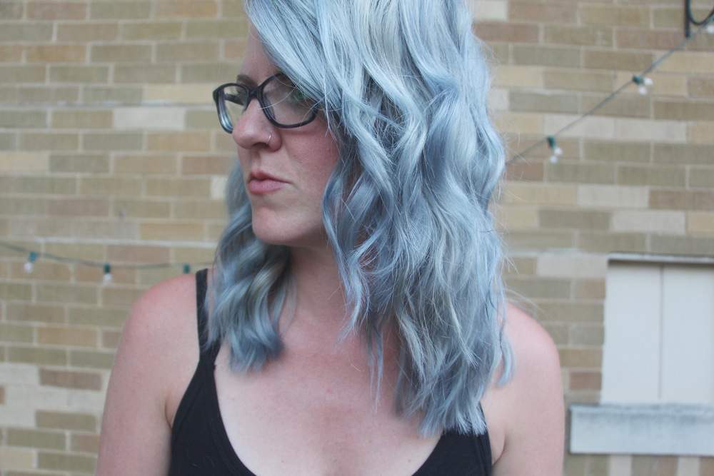 Mindy Larsen with gray hair