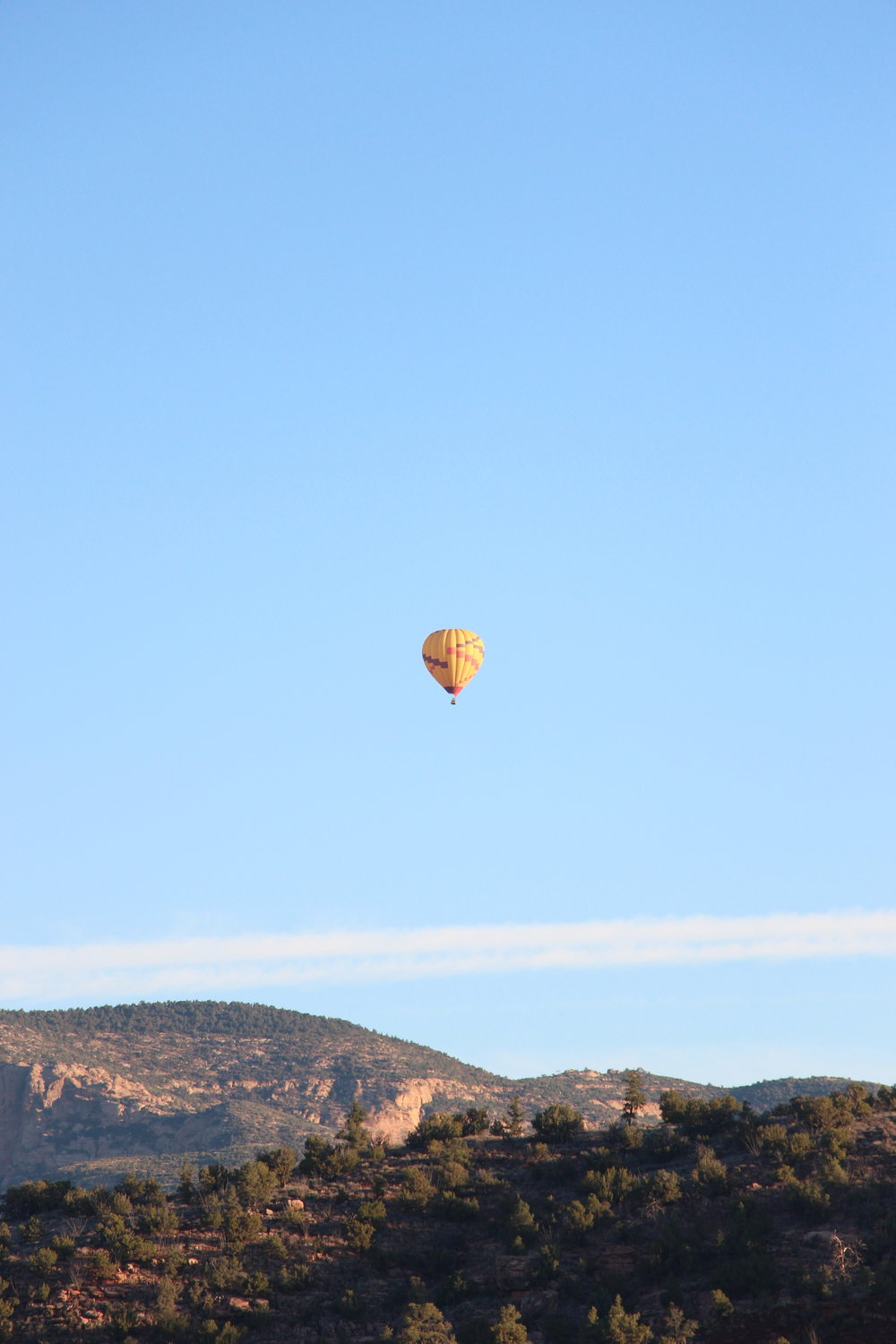 hot air balloon sedona by Mindy Larsen