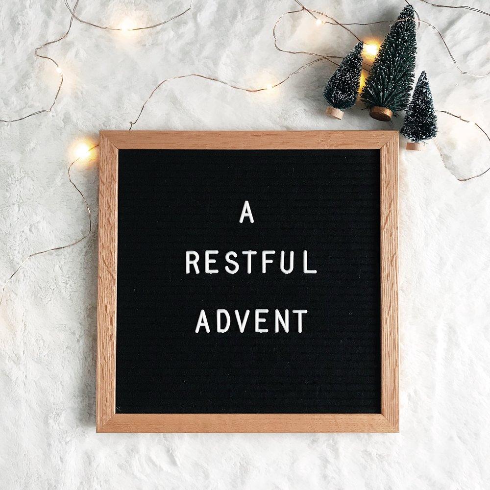 A Restful Advent by Mindy Larsen