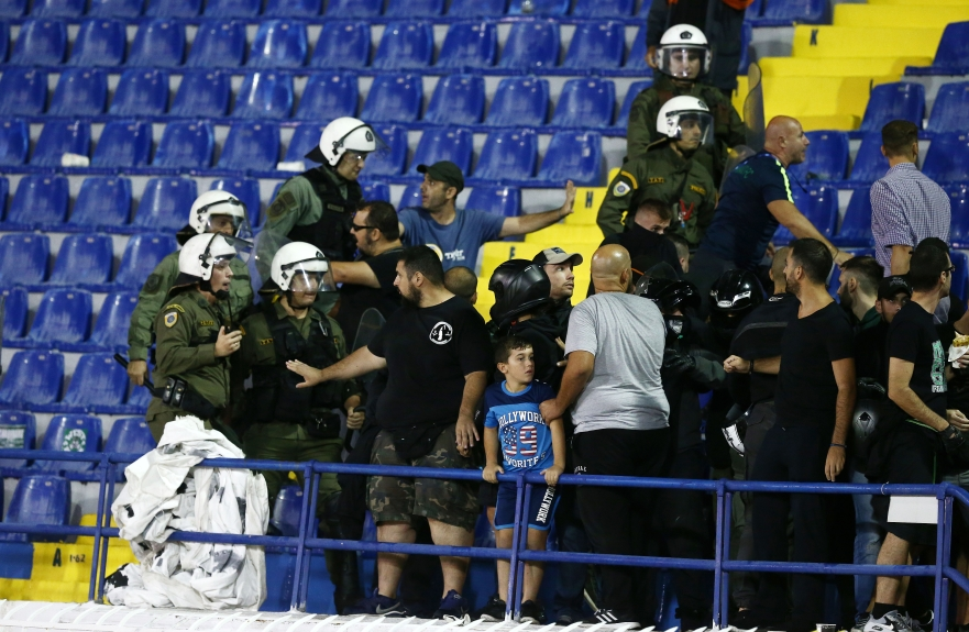 Image result for atromitos supporters riot