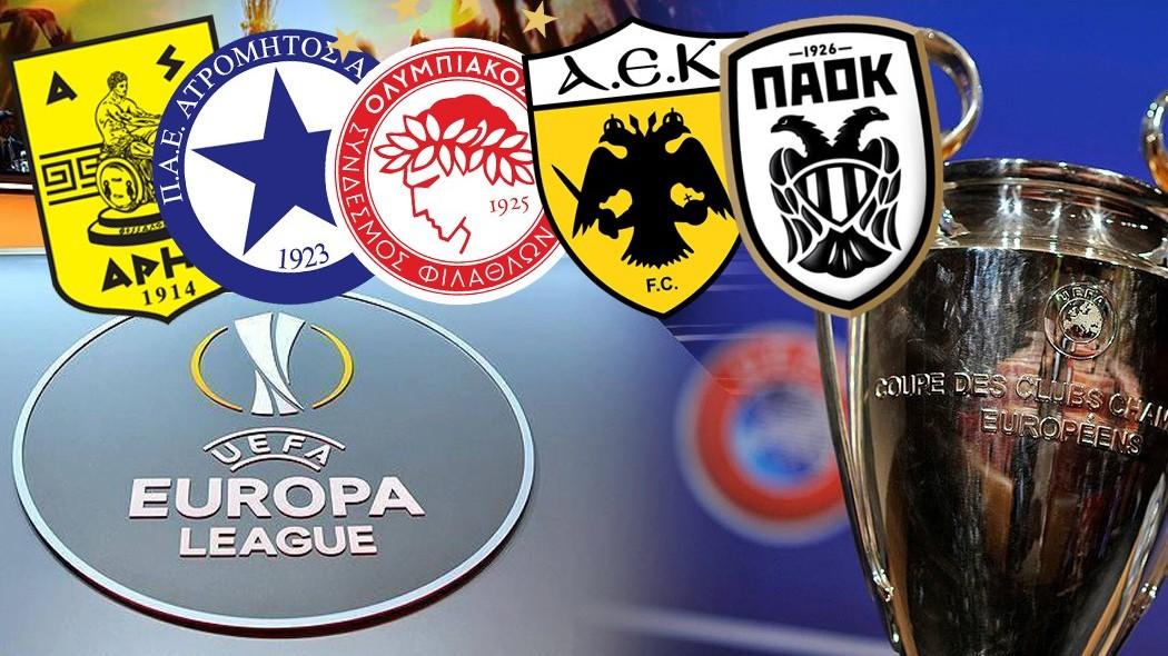 Greece S Representatives For The 2019 20 Uefa Champions Europa League Agonasport Com