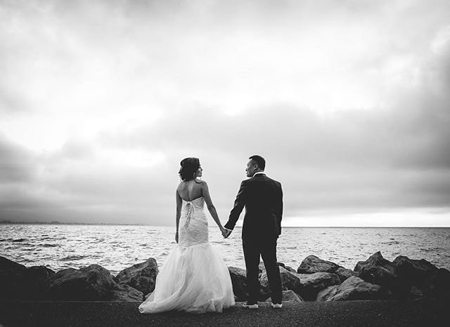 Black meets white #weddings #weddingphotography #davidkimphotography #sanfranciscoweddingphotographer #blackandwhite #weddingdress
