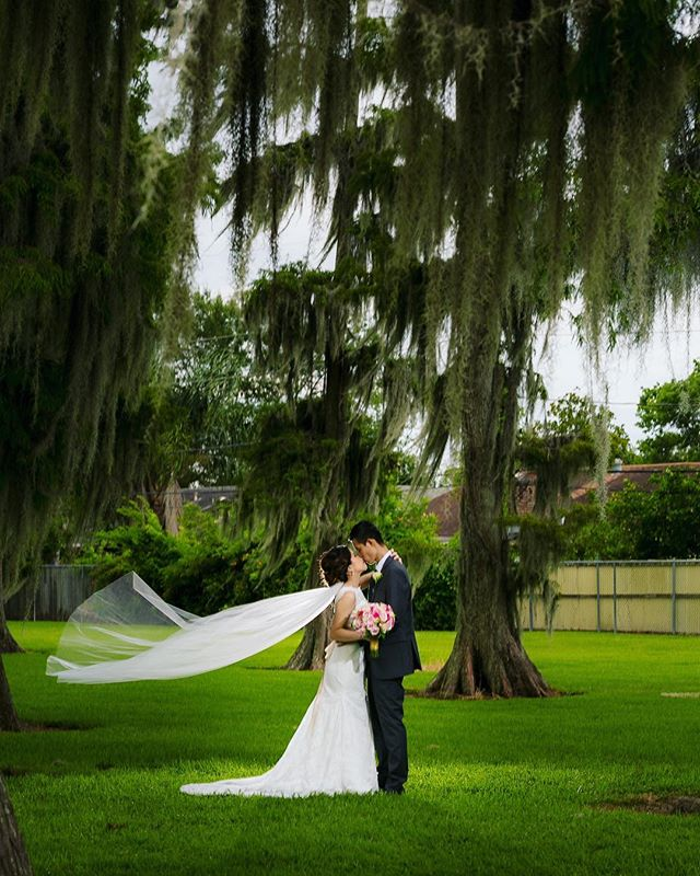It was such a pleasure traveling to the Big Easy for this super fun couple! Thanks Vy and Kevin! #neworleanswedding #neworleans #weddingphotography #davidkimphotography #weddingveil #bigeasy #nola #summerwedding #lousiana #southernwedding #southerncharm #southernhospitality