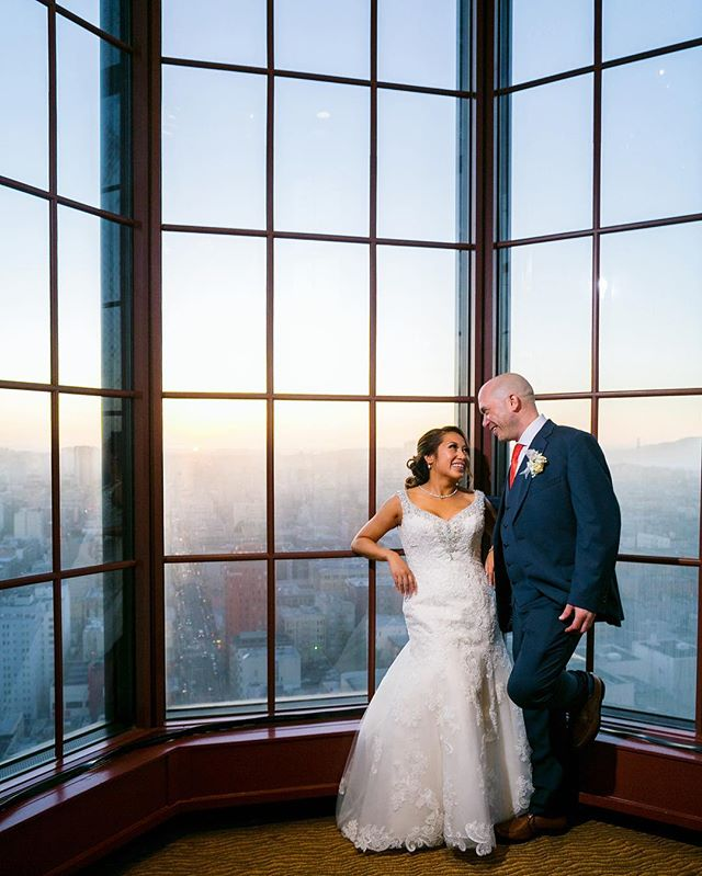 Quick reception break to enjoy the moment together.  #westinsaintfrancis  #weddingphotography #sfwedding #davidkimphotography #married #sanfrancisco