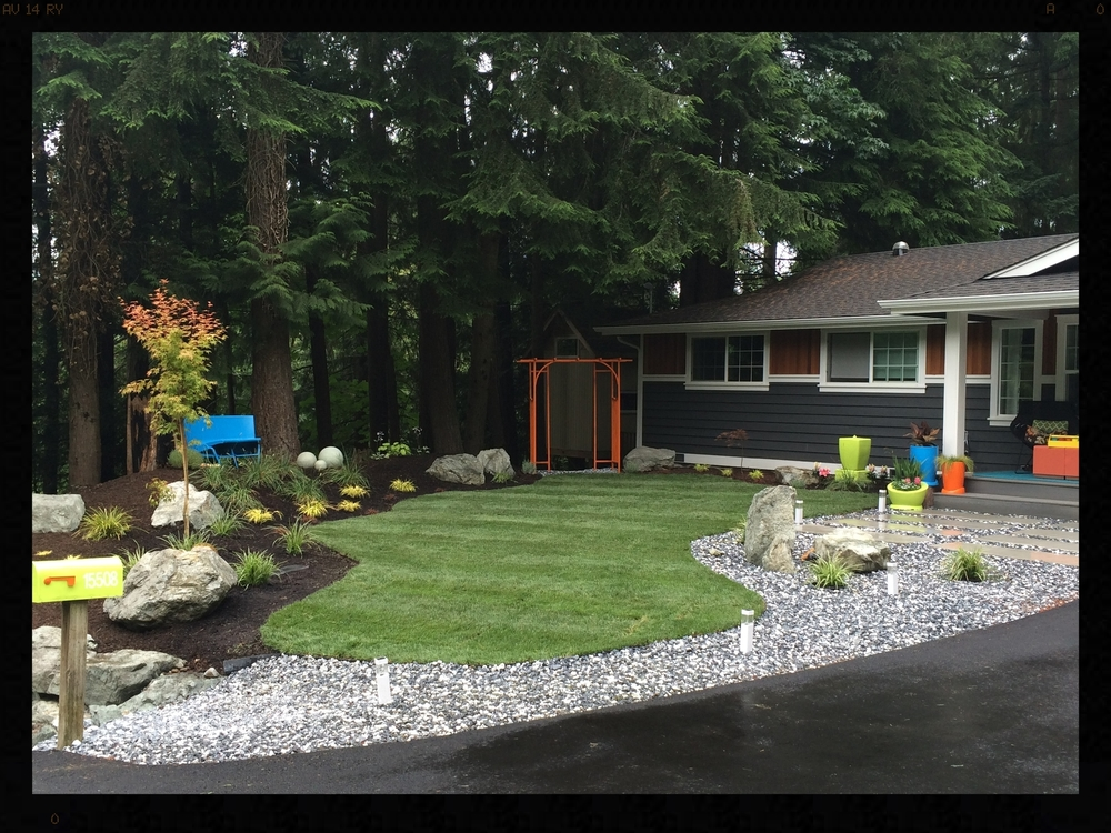 Woodinville Ranch Front Yard Makeover After