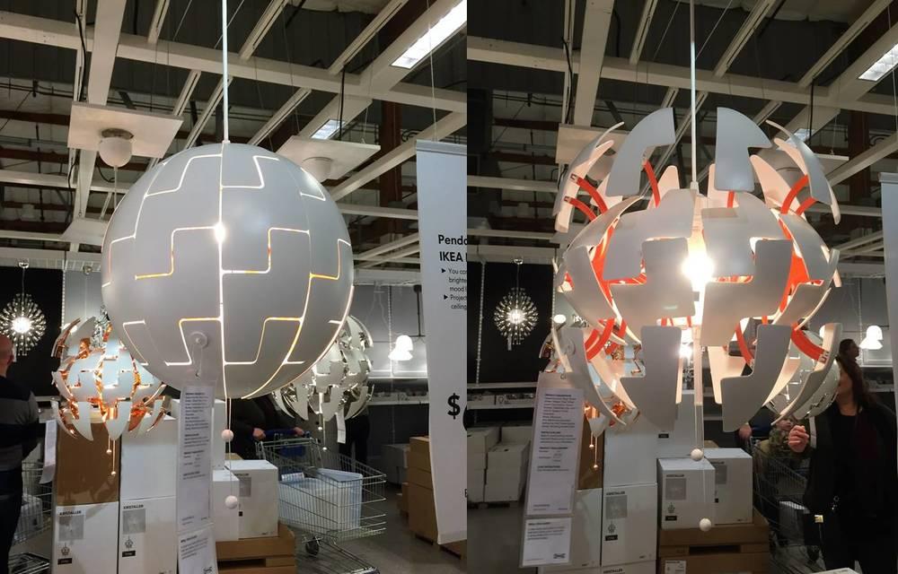 IKEA PS 2014 Pendant lamp, white, orange $69.99