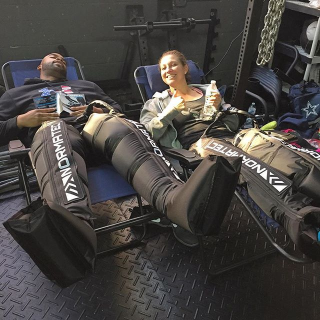 Our athletes can't get enough of the normatec leg sleeves!