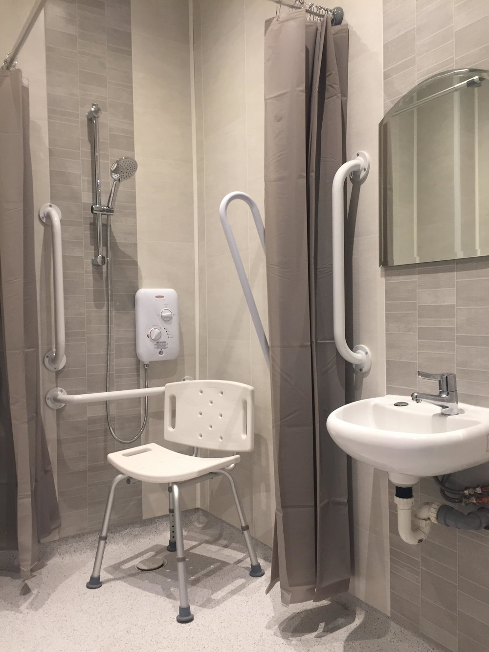 Refurbished toilet and showering facilities -
