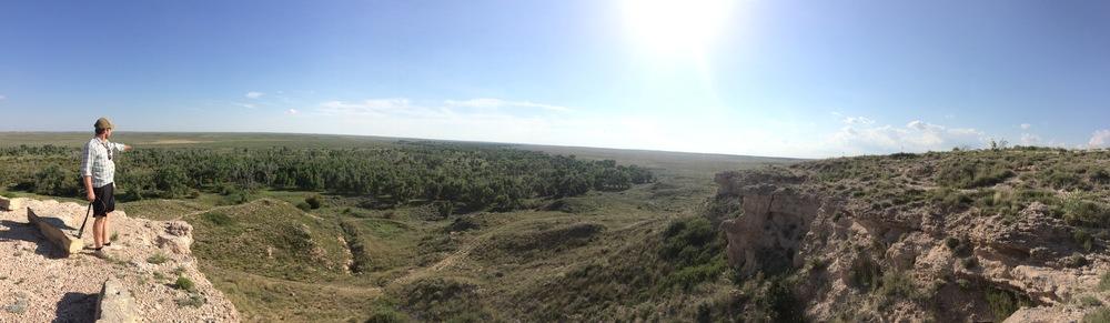Iain overlooking Cimarron National Grassland in Kansas.