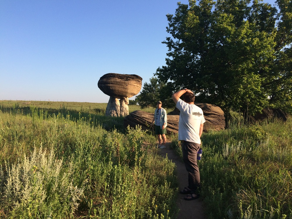 Mushroom Rock State Park in Brookville, KS