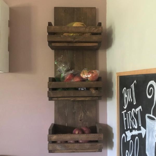 Wall Produce Storage Shelf