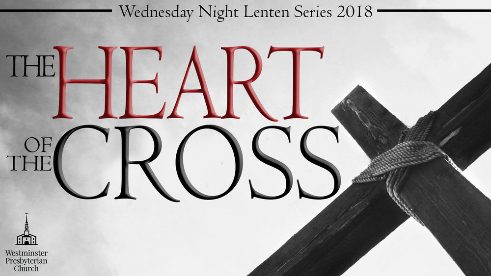 2017 Lenten Series   March 1        Parables of the Unforgiving Servant                     Matthew 18:21-35                          Speaker: Dr. John Light, Associate Pastor,                          Westminster Presbyterian Church                          Katie Zappitella, Pianist      Heidi Hayward—Violin March 8         The Rich Young Ruler                                                 Matthew 19:16-30                         Speaker: Rev. Troy DeBruin, Pastor of                    Proclamation Presbyterian Church, Mount Joy PA                          Jim Harris, Pianist                               Betty Mumma, Soprano and Paul Mumma, Pianist March 15      Parable of Laborers in the Vineyard                         Matthew 20:1-16                         Speaker: Rev. Scott Johnston, Chaplain,                    Willow Valley Communities                          Jim Harris, Pianist      Rachel Vos—Violin March 22      Parable of the Wicked Tenants                                 Matthew 21:33-46                         Speaker: Rev. Dan Perrin, Pastor of                          Manor Presbyterian Church, Cochranville PA                          Carol Rogers, Pianist      Anson Loose—Bass March 29      Parable of the Wedding Garment                               Matthew 22:1-14                         Speaker: Dr. Michael Rogers, Senior Pastor of                          Westminster Presbyterian Church                          Carol Rogers, Pianist      Thomas Cozzoli—Bass April 5          Parable of Ten Bridesmaids                                            Matthew 25:1-13                        Speaker: Rev. William Davies, Retired from 40 year                         Pastorate at Bellevue Presbyterian Church, Gap PA                         Dave Andrews, Pianist                             Men's Quartet—Jim Casler, Peter Achor, Mark Espenshade, Thomas Cozzoli   Our Holy Thursday Communion Service will take place on April 13, 2017 at 7:00 PM. The speaker will be Dr. Michael Rogers, Senior Pastor of Westminster Presbyterian Church. Wednesday evening meals will continue throughout the Lenten series, but please give us an exact count by noon on Tuesday.