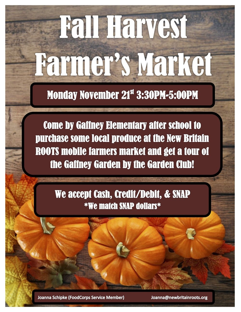 roots fall harvest market at gaffney elementary u2014 new britain roots
