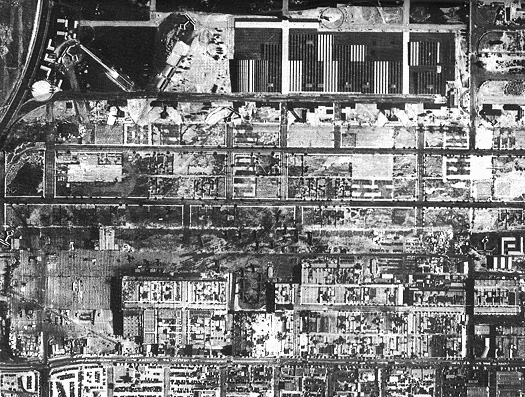 Figure 3   Aerial view,  Douglas Aircraft Facility, September 1942