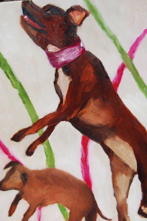 Yip Yip Hooray, Oil on Canvas, 16 x 20, SOLD