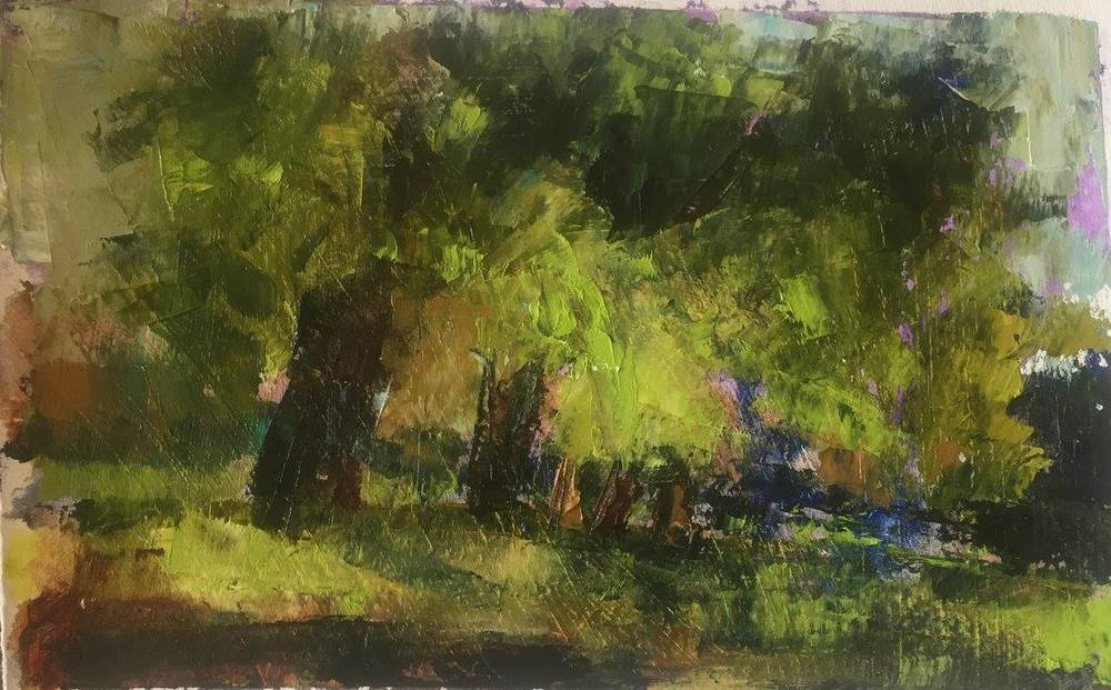 Summertime Shade, Oil, 13x10