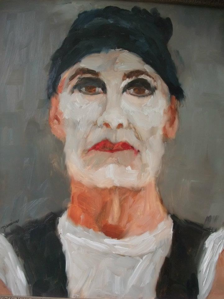 Act I, Oil on Mylar, 24x26